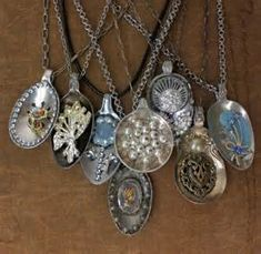 How to recycle vintage spoons. Thrift stores always have an abundance ...