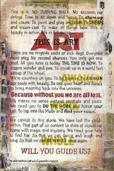 Art Manifesto by Jeff Goins
