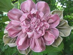 I ❤ ribbonwork . . . French Ombre Millinery Ribbon Flower Pin ~By grandmasflowergarden2010
