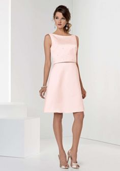b0ecb8a77bb6 Crystal Satin dress with A-line skirt. Separate crop top with open back.  Available in short