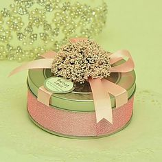 Lovely Round Favor Tins With Bow - Set of 6(More Colors) – USD $ 14.99