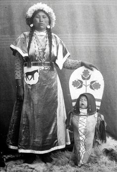 Native American Mary Moses | Mary Parsons and child - Nez Perce - no date