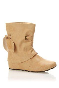 Jacobies El 64 Flat Boots In Beige - Beyond the Rack