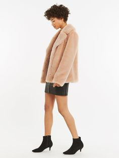 Explore Littlewoods Ireland's huge range of dresses suitable for all occasions. Shop now to get free delivery and returns on your orders. Pale Pink, Oasis, Latest Fashion, Faux Fur, Fur Coat, Layers, Top, Shopping, Layering