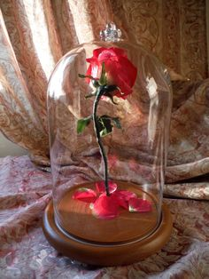 Beauty and the Beast Enchanted Rose Disney by HandsFullofCrafts