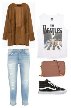 """Outfit Idea by Polyvore Remix"" by polyvore-remix ❤ liked on Polyvore featuring Zara, Current/Elliott, Wet Seal, Michael Kors and Vans"