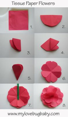 Diy how to make a flower out of paper napkin scrapbookingpaper tissue paper flowers for matt morris kit idea mightylinksfo