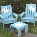 I want to make this!  DIY Furniture Plan from Ana-White.com  So fun, a cute little kids Adirondack Chair! Easy to build and inexpensive, the perfect place to start if you are worried about the angles and cutting stringers for Adirondack Chairs. Special thanks to Dawn for sharing her photos with us.
