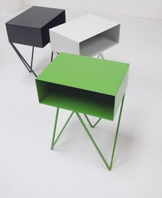 Colour wave Robot side table in green, grey and black