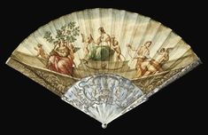 A FINE AND RARE FAN, THE LEAF FINELY PAINTED BY GAETANO SAVORELLI SIGNED AND DATED 1763