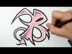 How to Draw Wild Graffiti Letters - B - YouTube