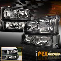 BLACK] 2003-2006 Chevy Silverado 1500 2500 3500 Head Light+Signal Bumper Lamp, in [eBay Motors, Parts & Accessories, Car & Truck Parts   eBay