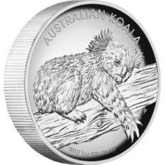 Australian Koala 2012 1oz Silver Proof High Relief Coin