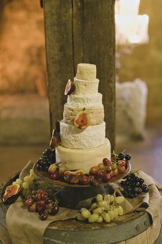 Wedding Cheese Cake with fresh fruits, an awesome wedding cake alternative. Image: Cavanagh Photography http://cavanaghphotography.com.au