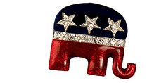 Enamel  Crystal Republican Logo BroochPin *** You can find out more details at the link of the image. Note: It's an affiliate link to Amazon.