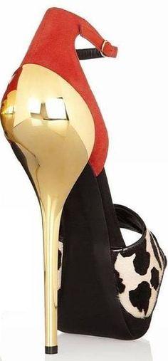 Giuseppe Zanottis Animal print w golden heels ♥✤ | Keep Smiling | BeStayBeautiful
