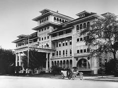 The Moana Surfrider Resort opened in 1901—the first hotel on Waikiki Beach.
