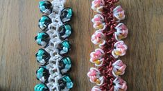 Rainbow Loom- Lovely Little Lotus Bracelet (Original Design) tutorial by Claire's Wears.