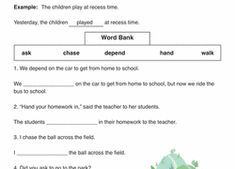 2nd Grade Verbs Learning Resources