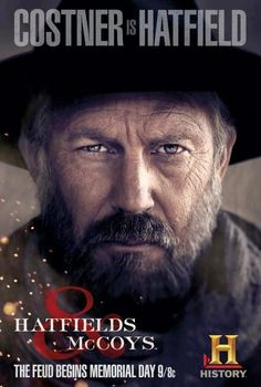 "Kevin Costner as ""Devil Anse"" Hatfield, patriarch of that Hatfield clan along the Tug River valley separating West Virginia and Kentucky.AWESOME show Western Film, Western Movies, Movies Showing, Movies And Tv Shows, Hatfields And Mccoys, Movies Worth Watching, Kevin Costner, History Channel, About Time Movie"
