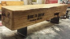 Custom Barn Beam Bench For FACEBOOK Executive!