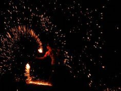 Fire dancing on Koh phi phi thailand 2011.