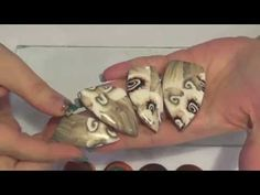 Ghost Nautilus Cane Video - over 600 FREE polymer clay tutorials at this website