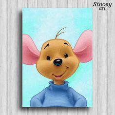 roo winnie the pooh art print disney gift winnie pooh nursery disney art winnie pooh decor Disney Canvas Paintings, Disney Canvas Art, Nursery Paintings, Art Drawings For Kids, Disney Drawings, Cute Drawings, Mickey Mouse Art, Mickey Mouse Wallpaper, Roo Winnie The Pooh