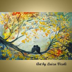 acrylic paintings of birds | Paintings for Sale, Acrylic Painting of Love & Birds Paintings ...