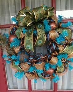 Peacock wreath.