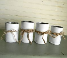 Hey, I found this really awesome Etsy listing at https://www.etsy.com/listing/184855886/metal-can-flower-vases-rustic-country