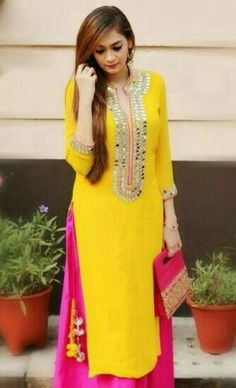 Find Online New Collection Of Salwar Suits For Women At Best Price In India From Indiarush. Salwar Suits With ✓ Free Delivery✦ ✓ Lowest Prices✦ Get Upto Off. Punjabi Dress, Pakistani Dresses, Indian Dresses, Indian Outfits, Indian Attire, Indian Wear, Ethnic Fashion, Indian Fashion, Ethnic Suit