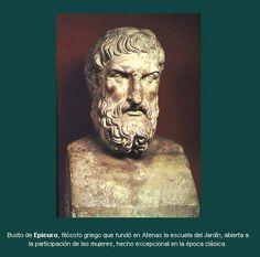 Busto do filósofo grego Epicuro