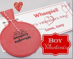 Boys Valentine Idea with a Printable. The teacher would hate me but this is perfect for the older boys.