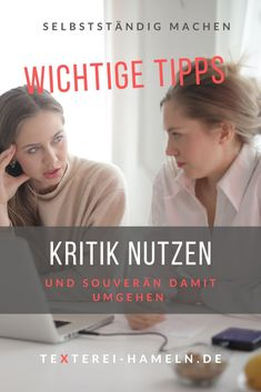 Kritik verunsichert oder macht wütend. Wie man Kritik für sich nutzen kann, kannst du in meinem Blogbeitrag lesen. Business, Movie Posters, Reading, Working Moms, Tips, Film Poster, Store, Business Illustration, Billboard
