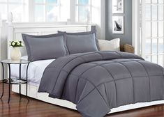 AC Pacific Comfort Grey Polyester Medium Warmth Down Twin Comforter Comfort Gray, Furniture, Twin Comforter, Duvet Sets, Comforters, Home, Duvet Cover Sets, Online Furniture, Cheap Furniture Online