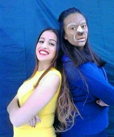 Beauty and the beast makeup Instagram @meriem_baccar #sfx #makeup #beast #fashion #colorful #colors #hair #nails #hairstyle