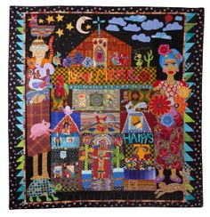 I ❤ quilting . . . Mary Lou Weideman's quilts are instantly recognizable. I Dream of New Mexico was finished in three weeks. I saw her later in the restaurant (a Mexican restaurant, of course) & told her I liked her quilt. I then showed her the quilt I keep on my cell phone, begun in her class. She was pretty enthusiastic about it and wanted me to send it to her website. I might. ~By nancy lou quilts.