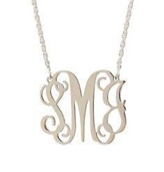 Medium Sterling Filigree Monogram Necklace.  $219.00 from Marley Lilly