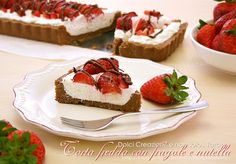 cheesecake con le fragole e nutella