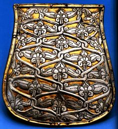 Sabretache - this example a Magyar tarsoly of the century. Sabretaches/tarsolys were suspended from the belt by the sabre and served as a man-purse, for the lack of pockets in military uniform. Viking Symbols, Ancient Symbols, Leather Working, Metal Working, Hungarian Embroidery, Man Purse, In A Little While, Strange History, Belt Pouch