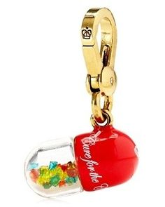 Juicy Couture Rare Charms | NWT JUICY COUTURE CHARM gold yjru5394 pill bottle