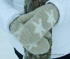 Tuplalapaset ohje Gloves, Socks, Knitting, Heart, Tricot, Breien, Sock, Weaving, Stricken