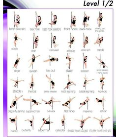 #PoleDancing #Poses #Fitness, Tone-Up & Build Strength. Level 1/2