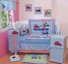 Cars Helicopter 100% Cotton 5-piece Crib Bedding Set Baby Boy Green Babies http://www.amazon.com/dp/B00M26SZR0/ref=cm_sw_r_pi_dp_xJK2ub0GHCPPF