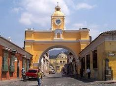 Arch over a main street in Antigua, Guatemala