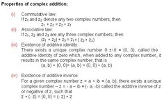 properties of complex addition math formulas pioneer mathematics