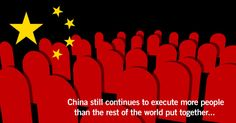 China executes more people each year than the rest of the world put together. Read more from our latest global survey on the use of the death penalty: http://www.amnesty.org.au/adp/comments/28235/