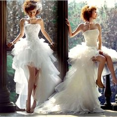 Белое платье со шлейфом
