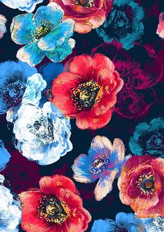 Print Studios - The London Textile Fair Tumblr Backgrounds, Wallpaper Backgrounds, Iphone Wallpaper, Flower Wallpaper, Pattern Wallpaper, Motif Floral, Pattern Illustration, Background Patterns, Cute Wallpapers